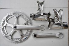 Shimano Dura Ace 7200 EX Dynadrive Crankset 52/42 With Dura Ace Pedals - MINT!