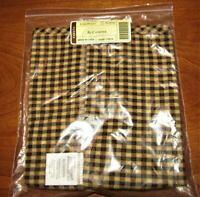 Longaberger Khaki Check XL Extra Large Canister Basket Fabric Liner NIP