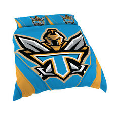 Gold Coast Titans NRL DOUBLE Bed Quilt Doona Duvet Cover Set NEW 2018
