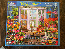 White Mountain Jigsaw Puzzle FLOWER SHOPPE 1,000 Pieces COMPLETE