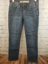 Charlotte Russe Skinny Roll-up Ladies Jeans size 2 Med wash C42