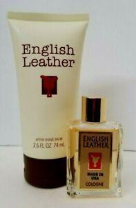 English Leather by Dana EAU DE COLOGNE Men Splash 0.5oz + Aftershave Balm 2.5 oz