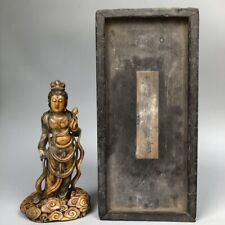 New listing Chinese antique old Shoushan stone hand-carved Guanyin statue