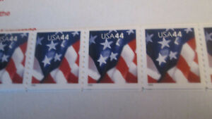 Flag Coil 44c stamps, strip of 5 #4391 MNH