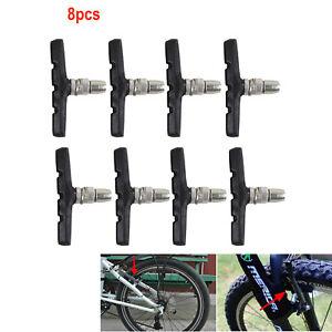 8x V-Brake Bike Brake Shoes Blocks Pads MTB Mountain Road Bicycle Cycling Vbrake