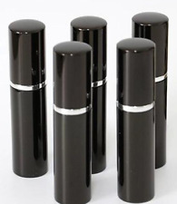 5ml (10) Black Glass Spray Bottle Pump Atomizer Refillable Perfume Case Empty