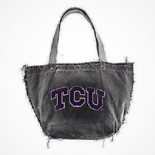 NEW Little Earth NCAA Texas Christian Horned Froged Black Vintage Tote