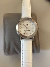 Tommy Hilfiger Ladies White Leather Band Quartz Watch