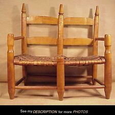 RARE!! 1840s Child's Double Wagon Seat Bench Chair Buckboard Carriage PRIMITIVE