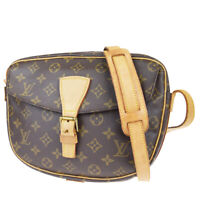 Auth LOUIS VUITTON Jeune Fille GM Shoulder Bag Monogram Leather M51225 83EZ420