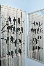 Birds Beaded Bamboo Curtains Decor Panel Drape Window Office Dividers Wall Art