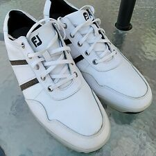 New listing FootJoy Contour Casual  Mens Spikeless Golf Shoe #54363 White And Black Size...