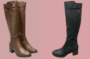 The Next Best Forever Comfort Knee High Boot Shoe 2 Colours Size 3 - 9