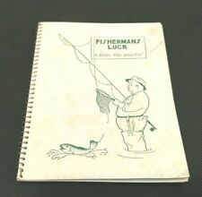 """Vintage Diary for Anglers 7 x 5.5"""" Spiral Bound Fisherman's Luck Vguc"""