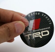 "(4 PACK) TRD Racing Development Wheel Center Hub Cap Sticker Decal 2.2"" diam"