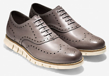 COLE HAAN Zerogrand WINGTIP OXFORD Men's Ironstone Leather Ivory C25007 Grand.OS