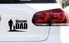 Baby on Board Aufkleber The Walking Dad mit Baby Kind Sticker FUN JDM Decal