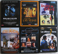 12 DVD CINE MALAS CALLES,LEAVING LAS VEGAS,THE MILLION DOLARS HOTEL, MIRA FOTOS
