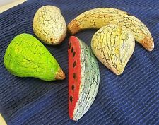 Vintage Decorative Fruit Crackle Finish Material Resin or Unknown  2lbs LOT OF 5