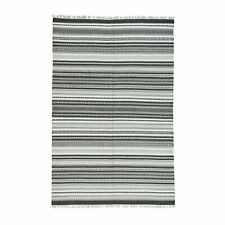 """5'9""""x9' Hand-Woven Flat Weave Striped Durie Kilim Pure Wool Carpet R31941"""
