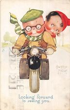 POSTCARD  CHILDREN  MOTOR  BIKE  Related  Looking  Forward  B  MALLET     TUCK