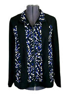 Zenergy Chico 3 Women's XL Black, Blue & White Full Zip Athleisure Jacket