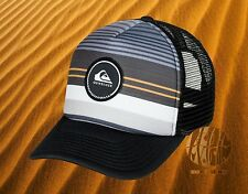 New Quiksilver Striped Vee Trucker Mens Snapback Cap Hat
