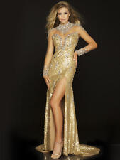 Mac Duggal Elegant Pageant Gold Dress 42745P size 4 *MuST Sell* *$1000k off*