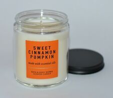 NEW BATH & BODY WORKS SWEET CINNAMON PUMPKIN SCENTED CANDLE SINGLE WICK 7 OZ