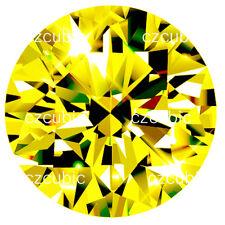 De calidad superior 6 a Amortiguador 10x8 mm Amarillo Canario ruso Cubic Zirconia Cz