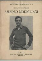 G. Scheiwiller Amedeo Modigliani 33 tavole Hoepli 1942 quarta ediz. illustrato