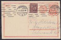 DR P 153 Ganzsache mit ZuF 180, gel. in Magdeburg 11.07.1922, GA