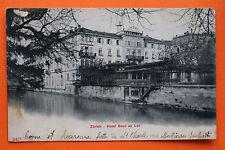 AK Zürich 1904-10 Hotel Baur au Lac Gebäude Hausansicht Gartenlaubengang ...