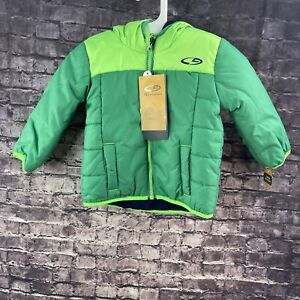 Champion 12 Months Winter Puffer Jacket With Hood Greens with Blue Inside