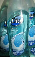 Lot of 3 Dial Spring Water Hydrating Body Wash 2 fl oz Travel Size