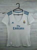 Real Madrid jersey women L 2017 2018 home shirt B31110 soccer football Adidas