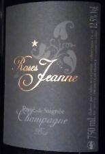 2 bt. CHAMPAGNE Cedric Bouchard Roses de Jeanne Creux d'Enfer Rose' 2011