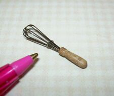 Miniature Perfect German Wire Whisk #3, Wooden Handle for DOLLHOUSE 1/12 Scale