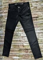 Express Jeans Womens Size 2 Black Legging Stella Low Rise Regular Fit EUC