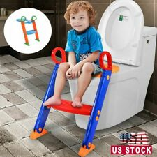 Potty Toilet Training Seat Kids Toilet Ladder Baby Toddler Training Toilet Step