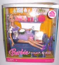 NEW Barbie MY HOUSE COUCH & DOLL w/ ACCESSORIES Mattel 2007 NIB M8632