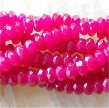 """5x8mm Faceted Rose Agate Abacus Gems Loose Beads 15""""AAA"""