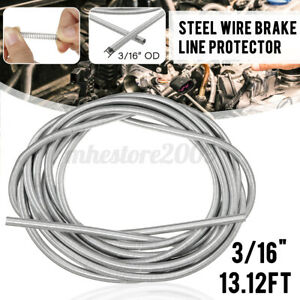 """Stainless Brake Line Protector Gravel Guard Spring Protective Tool 3/16"""" 13ft US"""