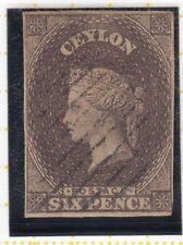 Ceylon 1859 6d Brown SG6a Fine Used