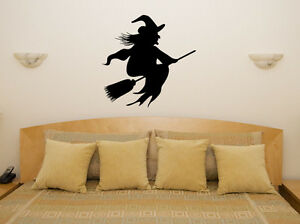 Witch Spooky Scarey Halloween Bedroom Decal Wall Art Sticker Picture