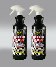 2 X  NITRO XC FOAMING MOTORCYCLE CLEANER 1LT NEW TECHNOLOGY RIDE RECOMMENDED!