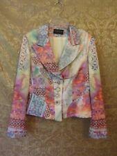 Dawood Grosse Pointe Women's Multi-Color Blazer- Boho Chic- Small