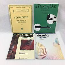 4 Violin Books Schradieck Technics Tune A Day Essential Technique Suzuki Vol 4