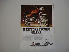 advertising Pubblicità 1980 MOTO GILERA 125 TG1 TG 1