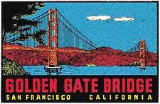 San Francisco Golden Gate  Vintage Looking Travel Decal sticker California
